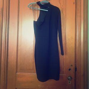 Lulus black one sleeved dress